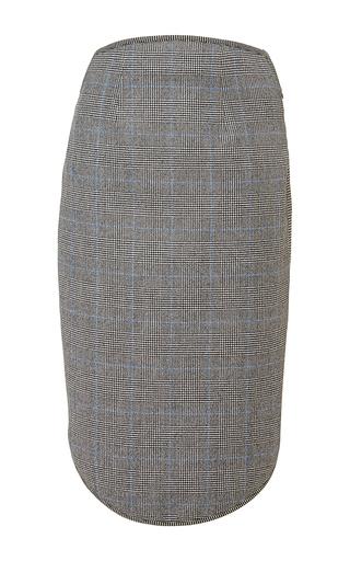 Charcoal wool midi skirt by ANTONIO BERARDI Available Now on Moda Operandi