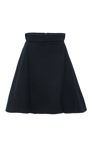 Navy modal mini skirt by ANTONIO BERARDI Now Available on Moda Operandi