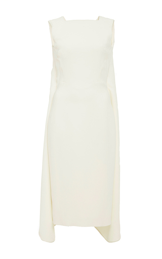 Ivory sleeveless midi dress by ANTONIO BERARDI Available Now on Moda Operandi