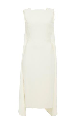 Ivory sleeveless midi dress by ANTONIO BERARDI Now Available on Moda Operandi