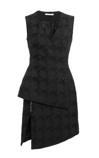 Black houndstooth double breasted sleeveless dress by ANTONIO BERARDI Available Now on Moda Operandi