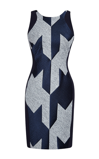 Sleeveless fitted houndstooth dress by ANTONIO BERARDI Now Available on Moda Operandi