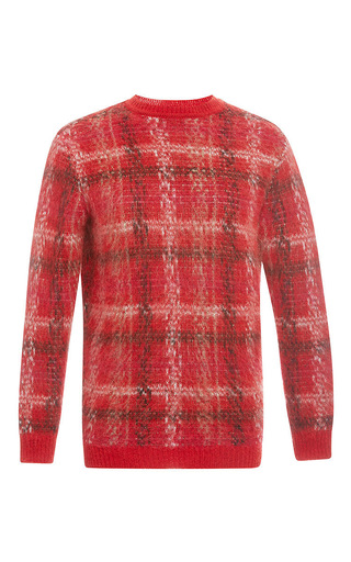 Plaid Crewneck Sweater by CARVEN Now Available on Moda Operandi