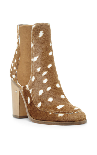 Glenn Fawn Hair Ankle Boots by LAURENCE DACADE Now Available on Moda Operandi