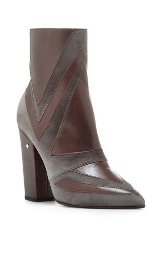 Isola calf leather heeled ankle boots by LAURENCE DACADE Now Available on Moda Operandi