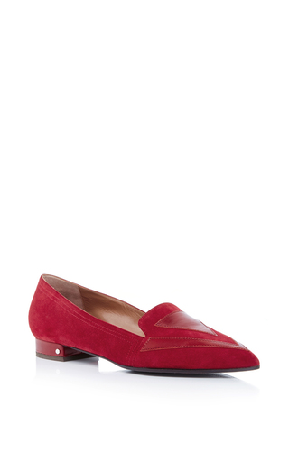 Isis calf leather and suede loafers by LAURENCE DACADE Now Available on Moda Operandi