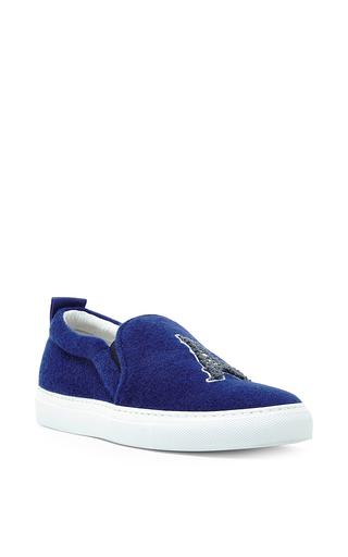 Shearling paris slip on sneakers  by JOSHUA SANDERS Now Available on Moda Operandi