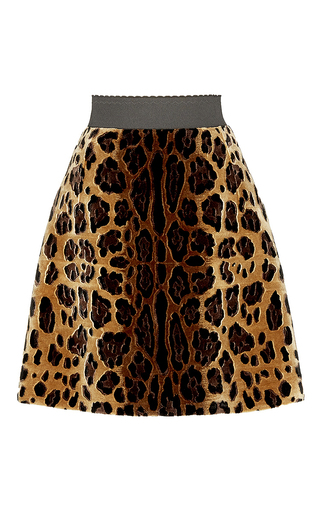 Leopard silk jacquard mini skirt by DOLCE & GABBANA Now Available on Moda Operandi