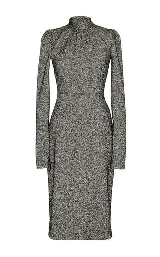 Grey virgin wool turtleneck dress by DOLCE & GABBANA Now Available on Moda Operandi