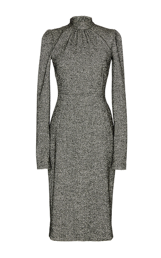 Grey virgin wool turtleneck dress by DOLCE & GABBANA Now Available on Moda Operandi