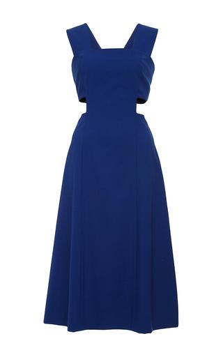 Blue wool sleeveless cutout dress by SUNO Now Available on Moda Operandi