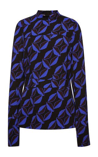 Graphic printed long sleeved blouse by MARNI Now Available on Moda Operandi