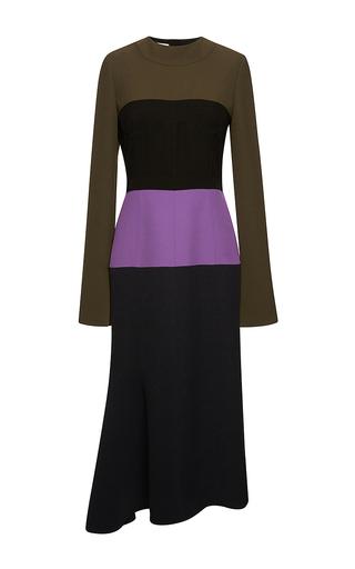 Color block crepe cady midi dress by MARNI Now Available on Moda Operandi