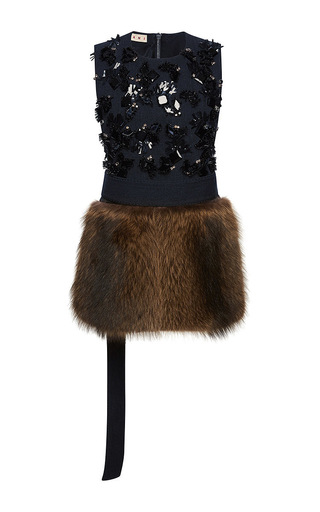 Racoon fur embellished waistcoat by MARNI Now Available on Moda Operandi