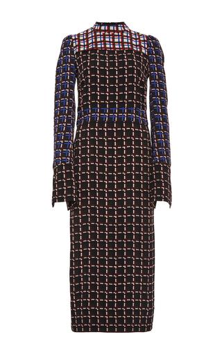 Windowpane print long sleeve dress by MARNI Now Available on Moda Operandi