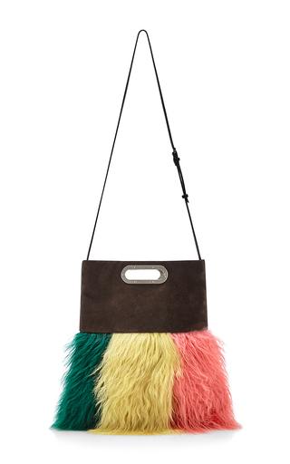 Multicolored sheep fur bandoleer shoulder bag by MARNI Available Now on Moda Operandi