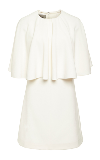 Ivory short sleeve structured dress  by GIAMBATTISTA VALLI Now Available on Moda Operandi