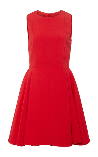 Red flared sleeveless dress   by GIAMBATTISTA VALLI Now Available on Moda Operandi