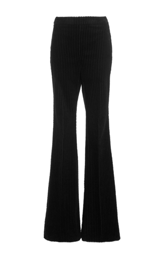 Black boot leg corduroy pants by GIAMBATTISTA VALLI Now Available on Moda Operandi