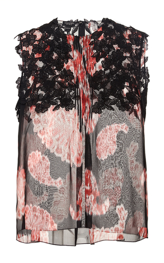 Sleeveless top with floral detailing  by GIAMBATTISTA VALLI Now Available on Moda Operandi