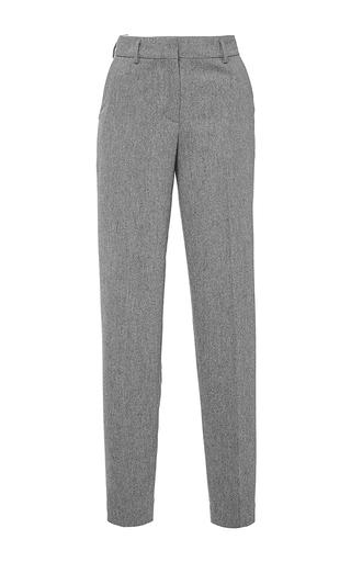 Grey flannel skinny boyfriend pants by GIAMBA Now Available on Moda Operandi