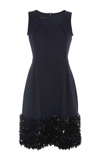Navy embellished bay dress by MOTHER OF PEARL Now Available on Moda Operandi