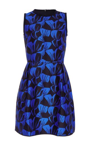 Cotton silk sandler printed sleeveless dress by MOTHER OF PEARL Now Available on Moda Operandi
