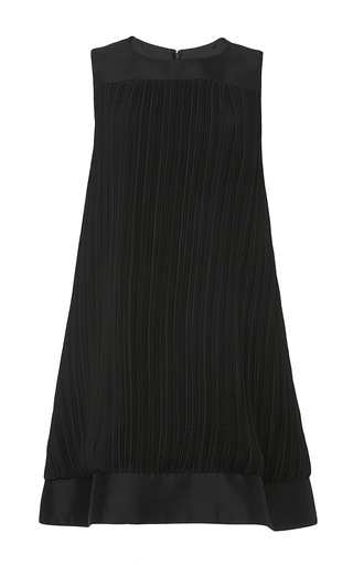 Pleated wool silk sleeveless a-line dress by HARVEY FAIRCLOTH Now Available on Moda Operandi