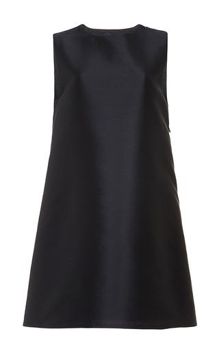 Navy Silk Wool A Line Back Zipper Dress by HARVEY FAIRCLOTH Now Available on Moda Operandi