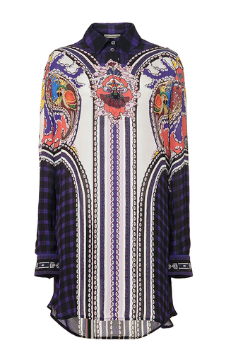Printed silk croft pattern dress by MARY KATRANTZOU Now Available on Moda Operandi