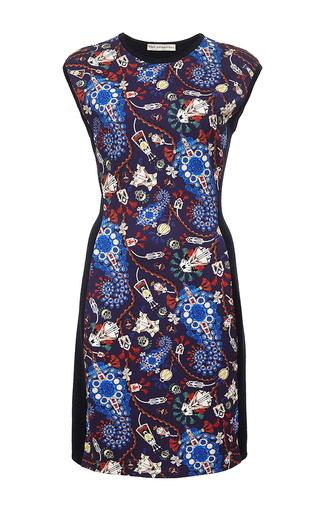 Lanark printed wool cap sleeve dress by MARY KATRANTZOU Now Available on Moda Operandi