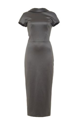 Short sleeve dress with deep v back  by CUSHNIE ET OCHS Available Now on Moda Operandi
