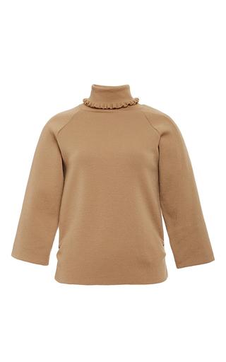 Camel scallop collar raglan  by J.W. ANDERSON Available Now on Moda Operandi
