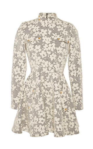 Floral jersey cloque skater dress by J.W. ANDERSON Now Available on Moda Operandi