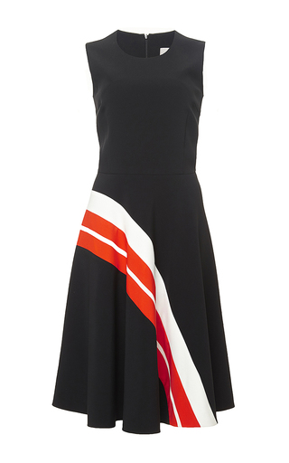 Black striped argyle dress by PREEN BY THORNTON BREGAZZI Now Available on Moda Operandi