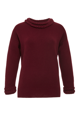Bordeaux Cashmere Sweater by VILSHENKO Now Available on Moda Operandi