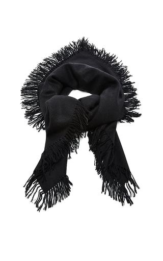 Black zila cashmere serged scarf by ISABEL MARANT Now Available on Moda Operandi