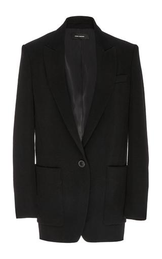 Tyler black wool oversized blazer by ISABEL MARANT Now Available on Moda Operandi