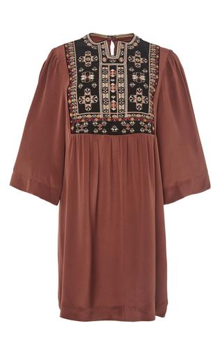 Rosewood ren silk tunic dress  by ISABEL MARANT Now Available on Moda Operandi