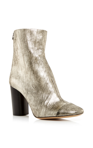 Silver goat suede grover ankle boots by ISABEL MARANT Now Available on Moda Operandi