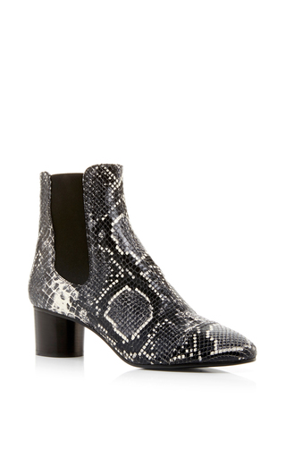 Danae python printed calf leather boots by ISABEL MARANT Now Available on Moda Operandi