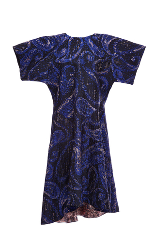 Paisley Jacquard Heroes Drop Waist Dress by ELLERY Now Available on Moda Operandi