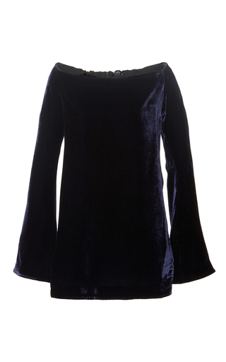 Navy queenie decolletage tunic top  by ELLERY Available Now on Moda Operandi