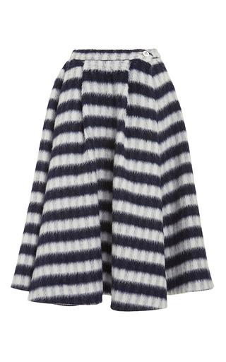 Moretti wool check midi skirt by VIVETTA Now Available on Moda Operandi