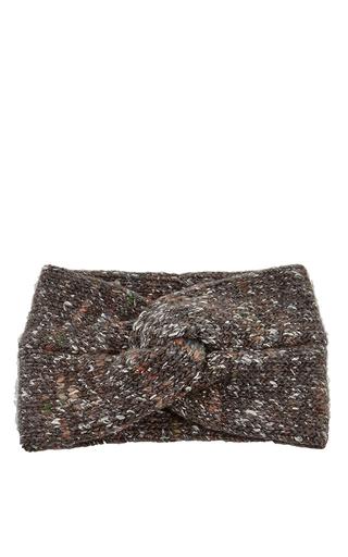 Gilbert wool blend headband in dark grey  by STELLA JEAN Now Available on Moda Operandi