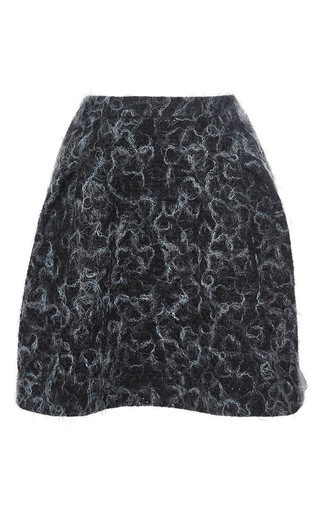 Misty blue wool skirt by CACHAREL Now Available on Moda Operandi