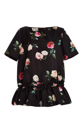 Floral printed blouse with ruffled bottom by NO. 21 Now Available on Moda Operandi