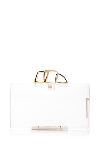 Perspex linked pandora clutch by CHARLOTTE OLYMPIA Now Available on Moda Operandi