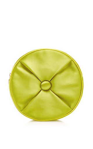 Silk satin round cushion pouch by CHARLOTTE OLYMPIA Now Available on Moda Operandi