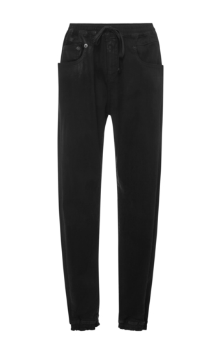 boyfriend joggers with leather patch  by R13 Now Available on Moda Operandi